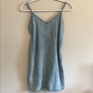 TNA mini light denim dress
